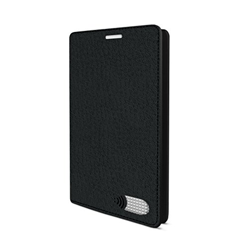 Vest Anti Radiation Wallet Case PU Leather for Samsung Galaxy S7 Edge- 98% Less Radiation Exposure (Black)
