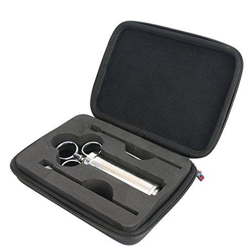 Khanka Hard Case Travel Storage Bag for 304 Stainless Steel Meat Seasoning Injector Kit Marinade Needles