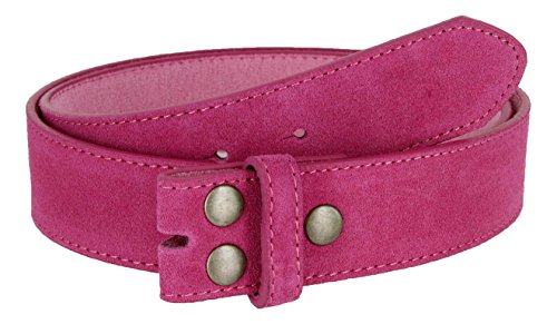 Suede Leather Casual Jean Belt Strap for Women (Pink, 32) - Suede Leather Belt Strap