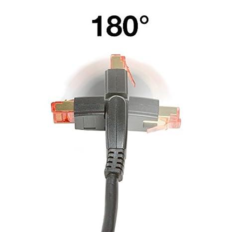 BIGtec Premium 1m 90/° gewinkelt gerade//unten Ethernet Gigabit LAN Netzwerkkabel Patchkabel Kabel schwarz vergoldet RJ45 doppelt geschirmt kompatibel zu CAT5 CAT5e CAT6 CAT6a CAT7 CAT7a