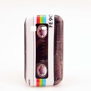 hao White Retro Cassette Plastic Protection Case for Samsung Galaxy Pocket / S5300
