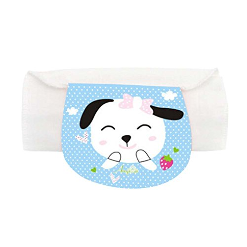 Set of 2 Baby Sweat Absorbent Towels with Happy Puppy Pattern, S