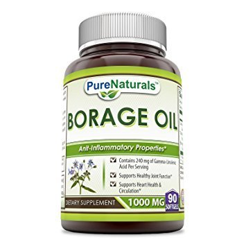 Pure Naturals Borage Oil 1000 mg, 90 Softgels -Supports Healthy Joint Function -Supports Heart Health & Circulation