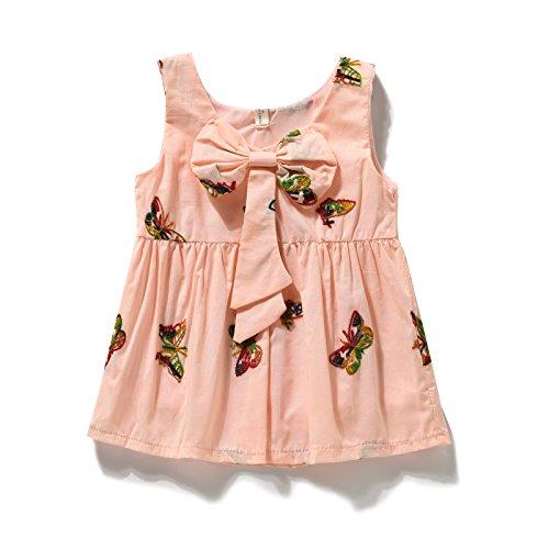4a1dca51a8a Bebé sundresses verano vestidos para niñas 3-4-6-8-9-10 meses 0-1 años  vestido de bebe, 100cm (100cm.: Amazon.es: Ropa y accesorios
