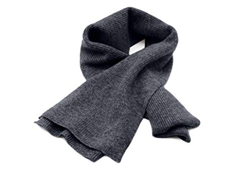 State Cashmere Men's 100% Cashmere Solid Color Winter Wrap Scarf, Ultimate Soft and Cozy 70