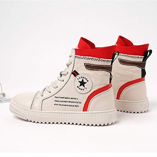 Taille Red De Hwf Britanniques Pour Noir Femme Talon Martin Femmes Hauteur couleur Féminines Plates 35 Loisirs Chaussures Rétro Bottes 3cm CnT0xq8