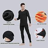 Ginasy Thermal Underwear for Men Long Johns Set