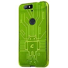 HUAWEI Nexus 6P Case, Cruzerlite Bugdroid Circuit Case Compatible for HUAWEI Nexus 6P - Retail Packaging - Green