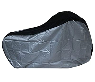Silver & Black 190T nylon waterproof bike / bicycle cover (size: S