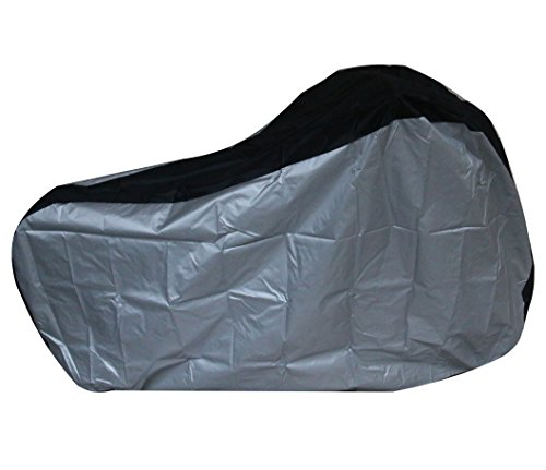 Silver & Black 190T nylon waterproof bike / bicycle cover (size: S by Lucky life (Image #7)