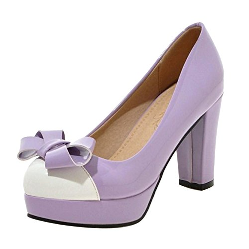 COOLCEPT Damen High Heels Pumps Purple