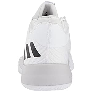 Adidas Men's Rise up 2 Basketball Shoe, White/Light Solid Grey Heather/Core Black, 13 M US