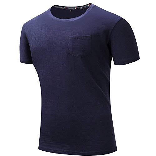 Uomo Men Base Slim Oversize Manica Jogging Tasca Classiche Yoga Ragazzi Da N shirt Blau Top Corta Girocollo Sport Mens Fit T Di Ningsanjin Tiefes Camicetta fH58wqxH