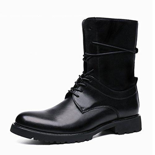 In Stivali uk8 Boots Da Eu43 Shoes Tide Martin Locomotive Nero Hwf Dimensioni Uomo colore Army Scarpe Tooling Fashion Pelle Nero UxwqzCFIE