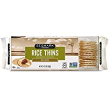 Sesmark Gluten Free Rice Thins, Sesame, 4.25 Ounce (Pack of 12)