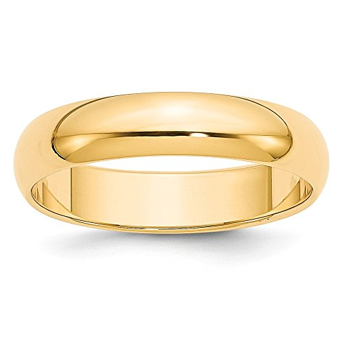 Perfect Jewelry Gift 14k 5mm Half-Round Wedding Band by Jewelry Brothers Rings
