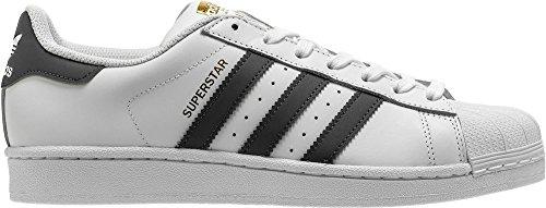 adidas Originals Men's Superstar Foundation Fashion Sneaker, White/Onix, Size 10.5 M US