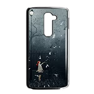 Artistic conception girl lovely phone case for LG G2