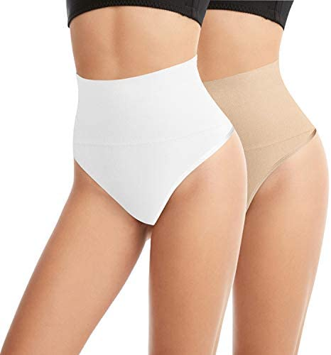 Libella Donne Figura formante Pantaloni Corpetto Bodyshorts Shapewear Effetto Ventre String e Tanga 3601 Nero 2XL
