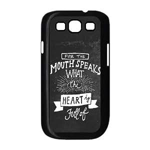Samsung Galaxy S3 9300 Cell Phone Case Black Mouth Speaks OJ443964
