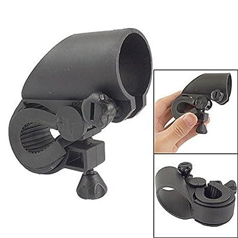 TOOGOO (R) Soporte de Linterna LED Plastico Negro para Bicicleta ...