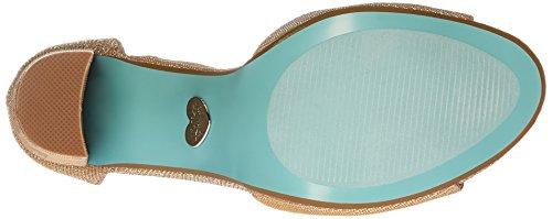 Azul De Betsey Johnson Mujeres Sb-carly Dress Sandal Gold
