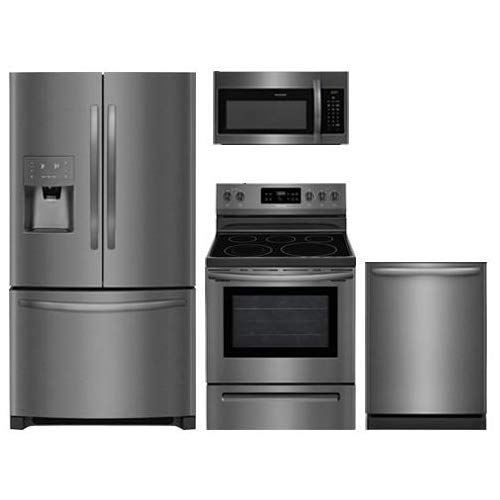 - Frigidaire 4-Piece Black Stainless Steel Package,FFHB2750TD 36