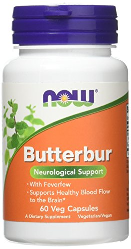 NOW Foods - Butterbur with Feverfew - 60 Vegetarian Capsules