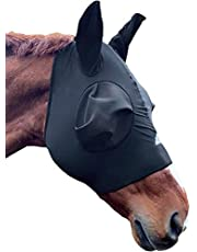 Shires Stretch Lycra Horse Fly Mask, Ventilated Mask Prevent Fly and Insect Bites