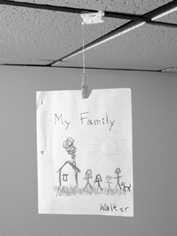 ceiling hangers for student artwork and projects classroom organization