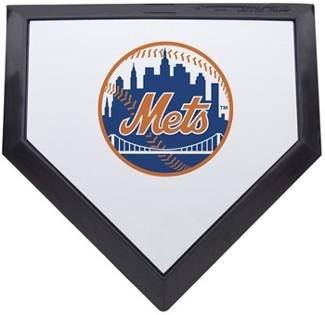 New York Mets Home Plate (New York Mets MLB Baseball Schutt Mini Home Plate - MLB Game Used Bases)
