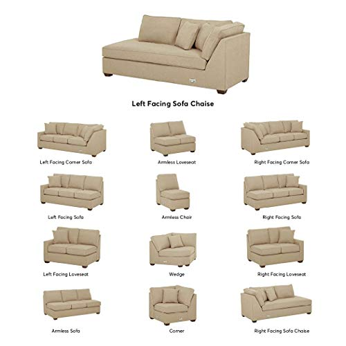 (Stone & Beam Bagley Sectional Component, Left-Facing Sofa Chaise, Fabric, 41