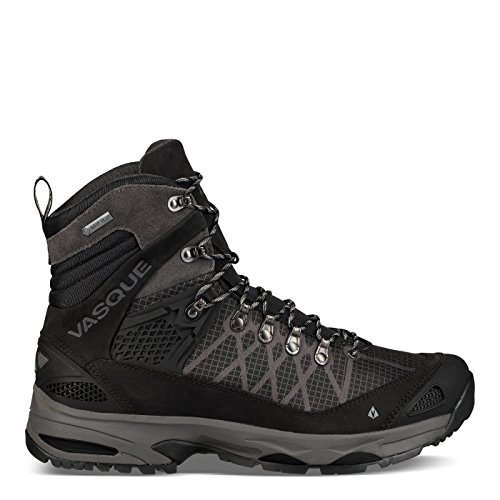 Vasque Saga GTX Hiking Shoe - Men's, Jet Black/Magnet, (Jet Magnet)