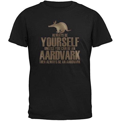 Always Be Yourself Aardvark Black Youth T-Shirt - - Aardvark T-shirt