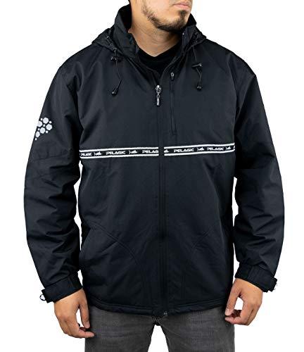 Pelagic Men's Hurricane Jacket | Waterproof Shell | Adjustable Cuffs and Waistband Black