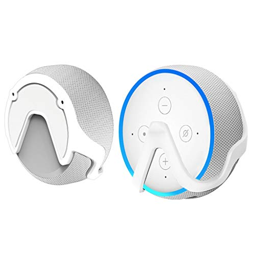 Huangou Outlet Hanger Stand Outlet Wall Mount Holder Holder for Echo Dot 3rd Generation for Your Smart Home Speakers. (Whitte, 105 x 88 x 53mm) ()