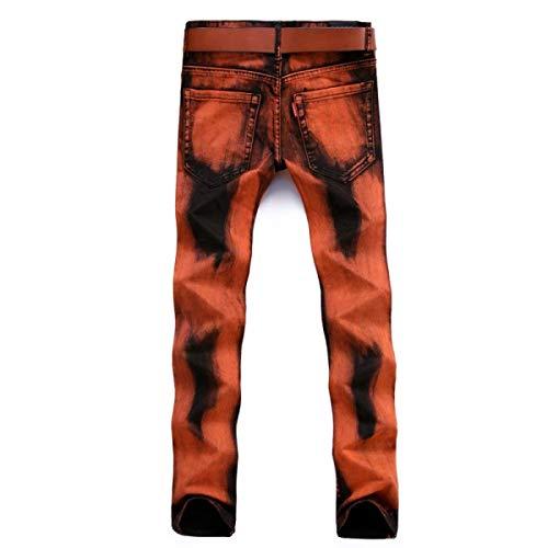 Cintura Clásico Jeans Vintage Leisure Los De Jeans Hombres Denim Naranja Straight Fashion Mediados Micro Denier Slim De Pantalones Bomb Chicos Largos rrvqY