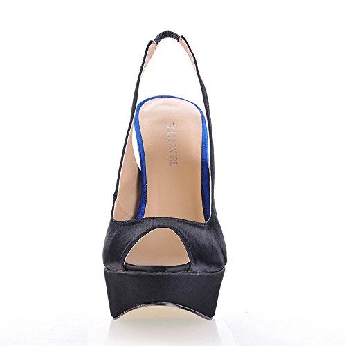 Single women new summer products Taste Fish tip women shoes black, Waterproof Taiwan high-heel shoes Black