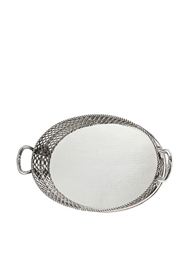 (Godinger Oval Pierced Gallery Tray)