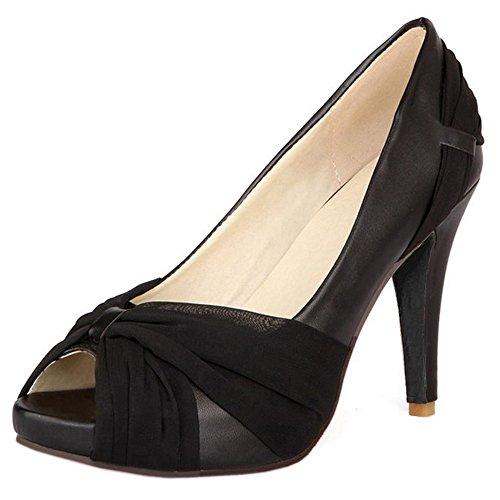 Scarpe Da Donna Stiletto Coolcept Slip On Wedding 8 Colori Mesh Scarpe Taglia Us2-10.5 Nero