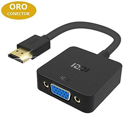 ICZI Adaptador HDMI a VGA, Conversor hdmi vga 1080P de Aluminio ...