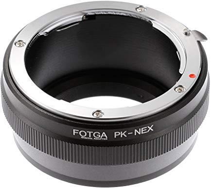 Fotga Adapter Ring for Pentax PK K Lens to Sony E-Mount Camera NEX-5R 5T 3 NEX-6 NEX-7 a7 a7S a7R a7II a7SII a7RII a6500 a6300 a6000 a5100 a5000 a3000 NEX-FS700 VG10 VG20 VG30 VG900 PXW-FS7