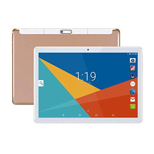 Tablet 10 Pollici con Wifi Offerte, Fire HD 10.1 3G Android 8.1 4GB RAM, 64GB ROM, Doppia SIM, Octa Core, GPS, OTG, 1080P,(Oro)