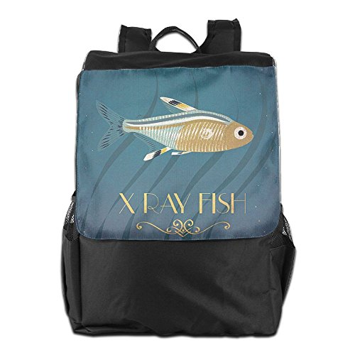 Outdoors and Shoulder Adjustable Dayback for School HSVCUY Camping Strap Travel Fish Personalized Men Gold Backpack Storage Women 5wzzZHq