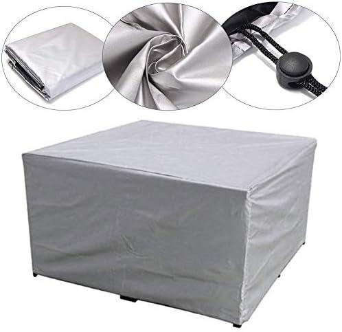 ガーデン家具カバー、屋外家具カバー210Dヘビーデューティオックスフォードポリエステル長方形パティオテーブルカバー防水、防風&抗UVガーデンテーブルカバー(ブラック)