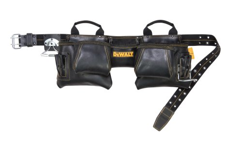 DEWALT DG5472 12-Pocket Carpenter's Top Grain Leather Apron Dewalt Leather