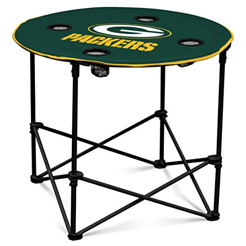Green Bay Packers  Collapsible Round Table with 4 Cup Holders and Carry -