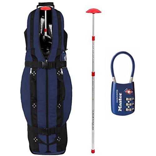 Club Glove Last Bag Collegiate Golf Travel Cover w/ Free Stiff Arm & TSA Lock (Club Glove Golf)