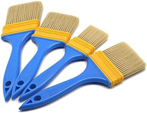 4PCS Paiting Brushes Set, Maler und Hausbesitzer Pinsel für Türschrank Decks Zäune, 4 Größen von 1, 2, 3, 4 Zoll