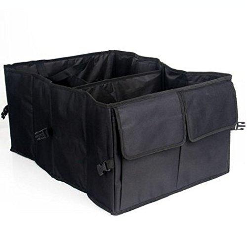 (Car Seat Back Trunk Organizer 22 Inchx15.7 Inchx10 Inch Black Car Folding Waterproof Storage bag,Oxford Travel Kitchen Bag for Vans,SUVs, Trucks)